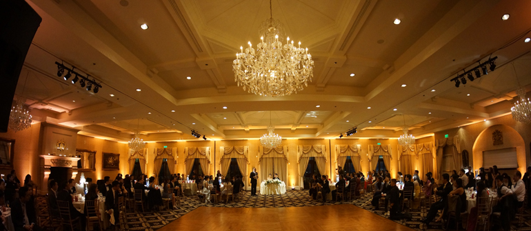 Trump National Golf club wedding uplighting